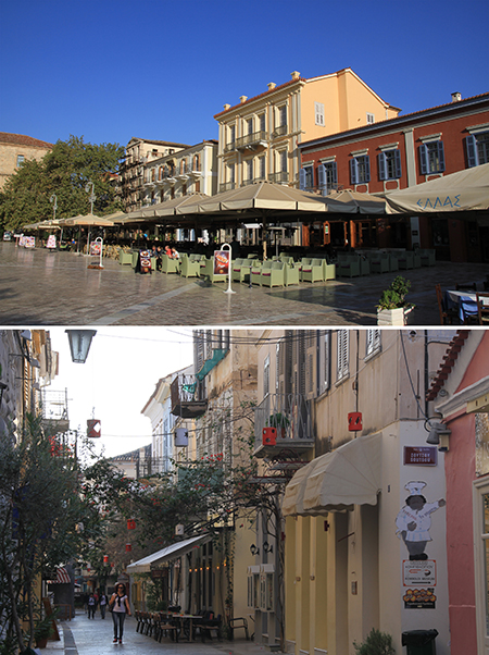 Nafplion Old town in the morning
