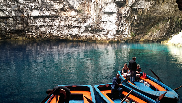 Tourist Boats in Melissani Cave