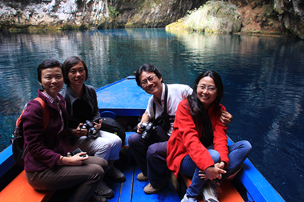 Boat ride in Melisanni Lake/Cave