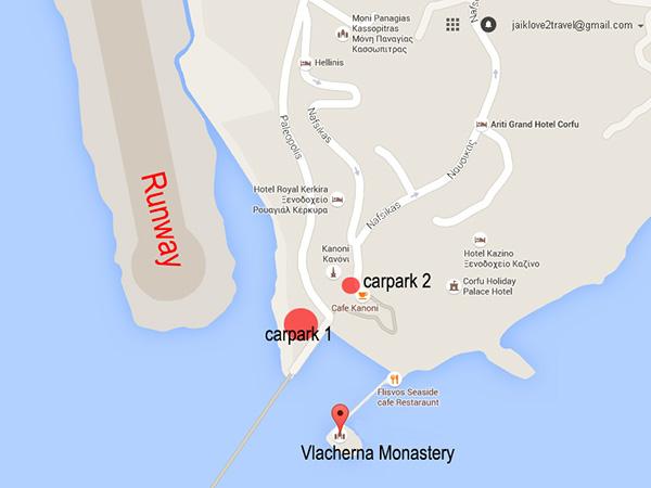 Map of Vlacherna Monastery