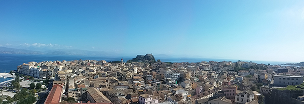 Corfu Town and Old Fortress (viewed from New Fortress)