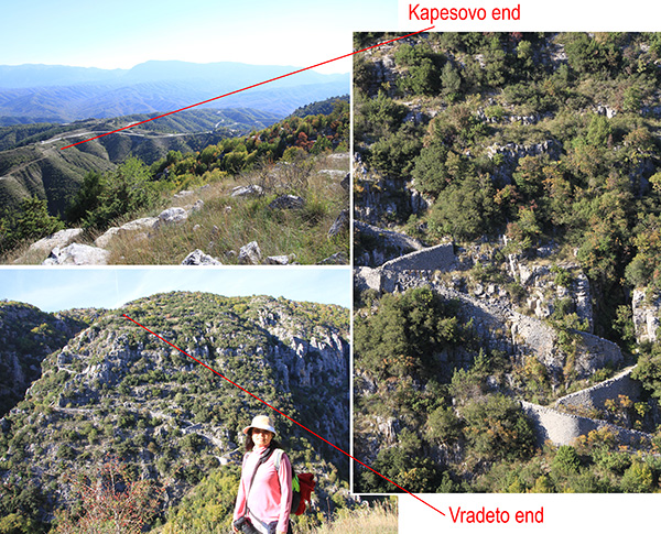 Vradeto steps route (Kopesovo End – Coordinates:39.892315, 20.787792 )