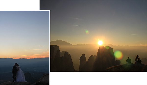 Sunset over Meteora