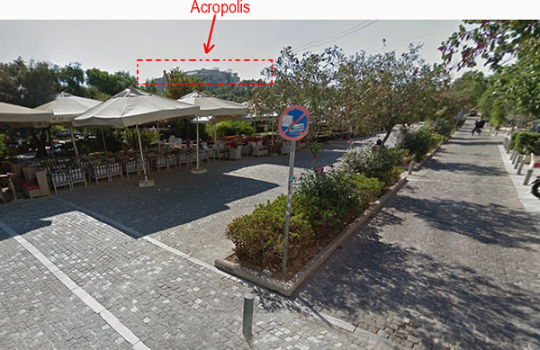 Outdoor Cafe/Restaurant with a Acropolis View