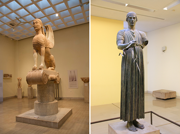 Exhibits in the Ancient Delphi Museum