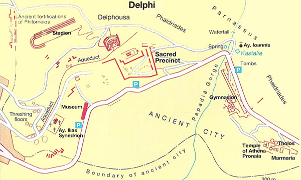 Layout of Ancient Delphi