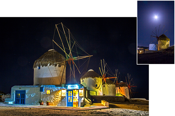 Night view of Windmills