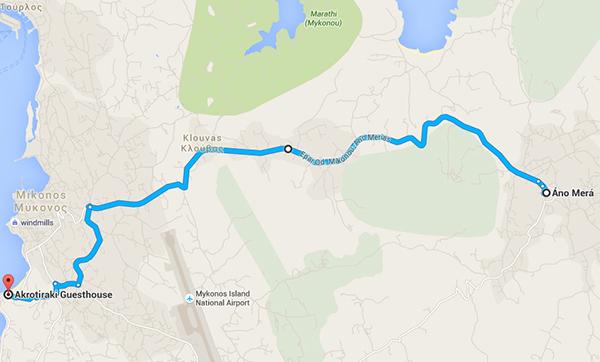 Route to Ano Mera Village