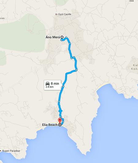 Route to Elia Beach
