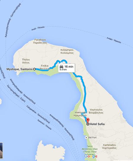 Route to Oia