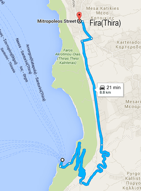 Bus Route from New Port To Fira Town