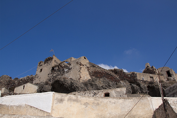 Akrotiri Castle above the town