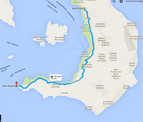 Route to Cape Akrotiri