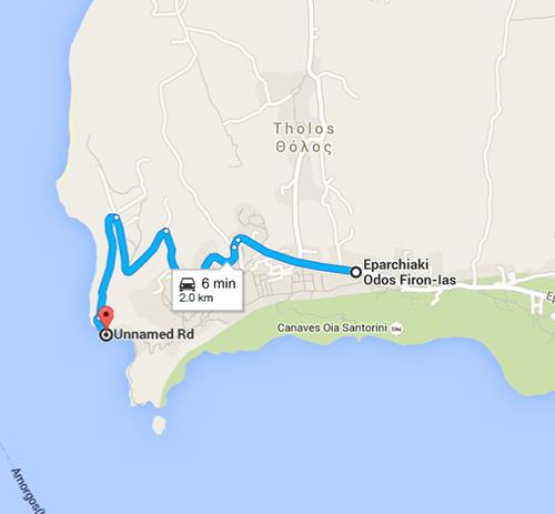 route to Ammoudi Beach