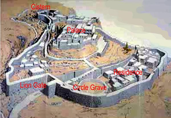 layout of the Mycenae Ruins