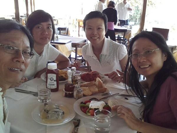 Late lunch at a restaurant near Mycenae