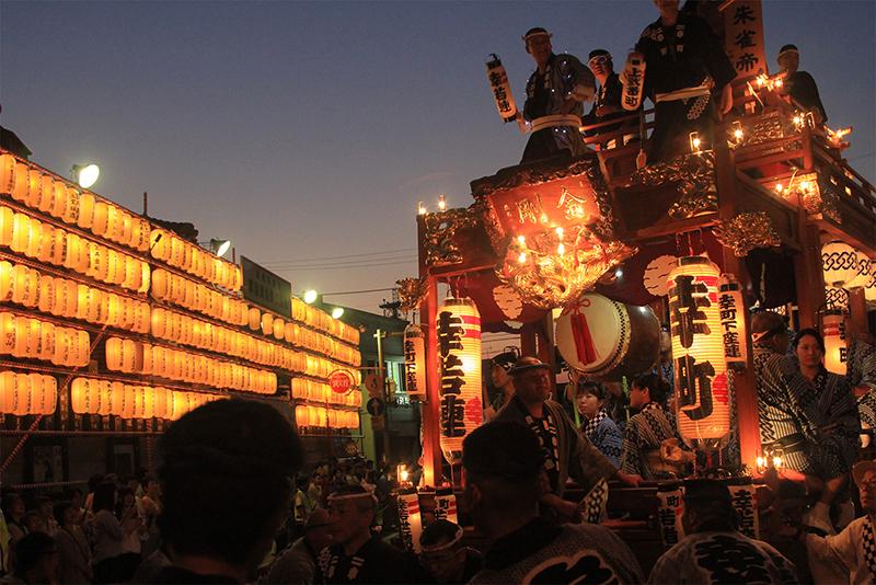 Lighted festival float