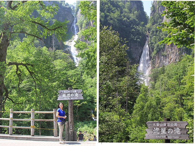 Twin waterfalls of Sounkyo