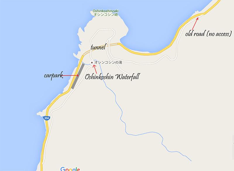 map to Oshinkoshin Waterfall