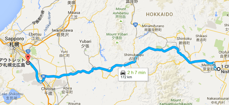 route to Mitsui Outlet Park