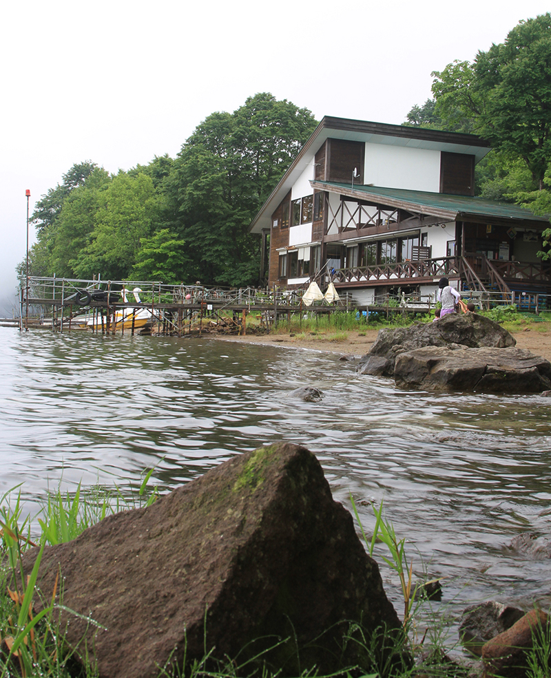 Cafe cum cabin at Lake Kuttara