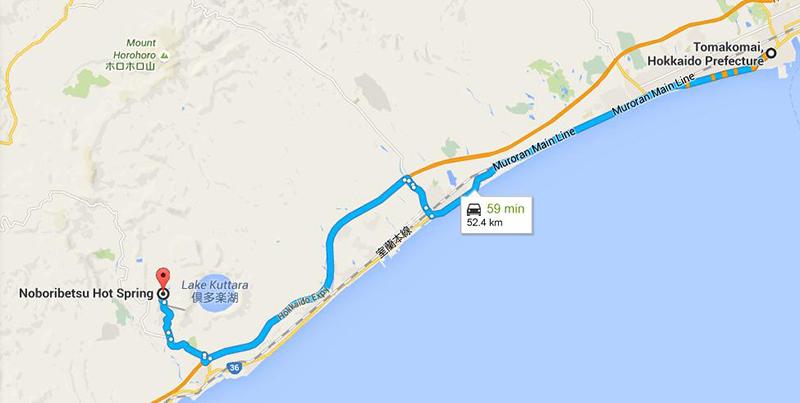 Route to Norboribetsu Onsen
