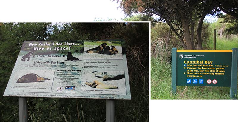 Sign at Cannibal Bay Carpark