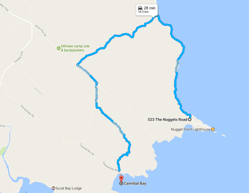 Route to Cannibal Bay