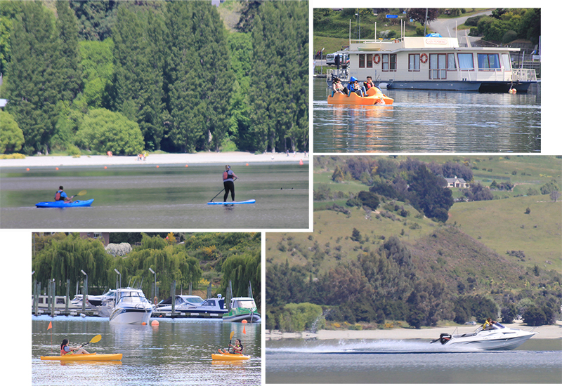 Boating activities at Roy's Bay Lake Wanaka