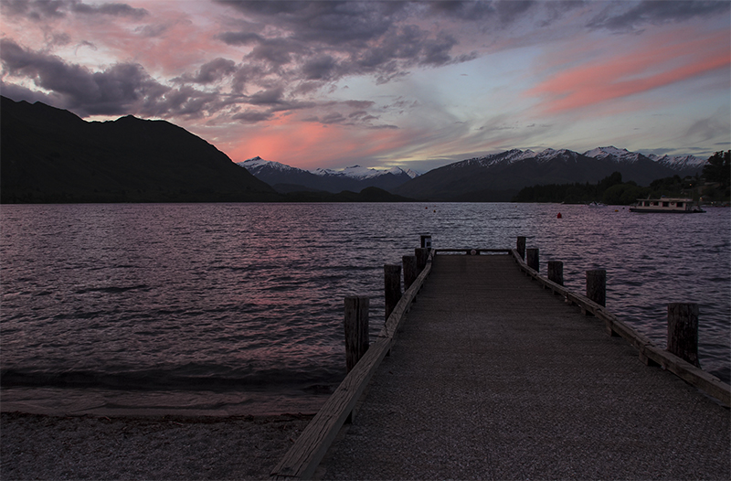 Beautiful Sunset at Roy's Bay of Lake Wanaka