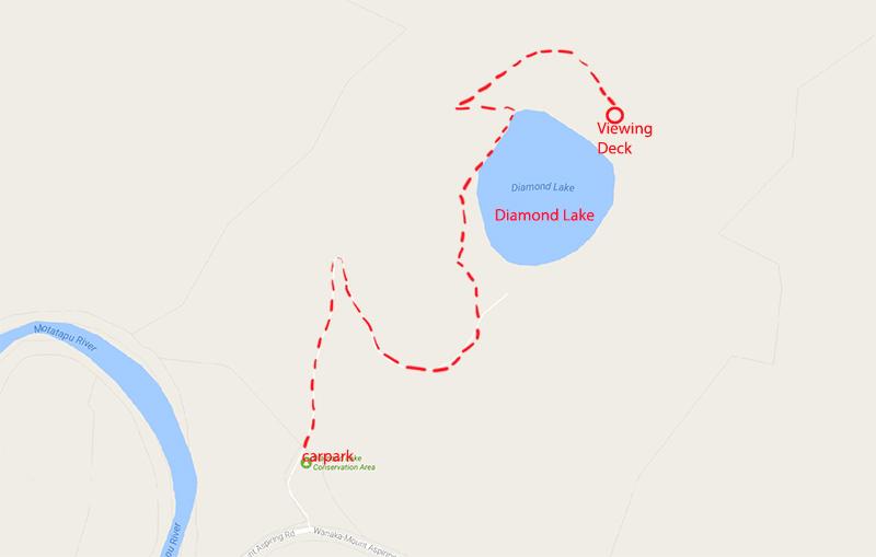 Diamond Lake - Walking trek to viewing deck