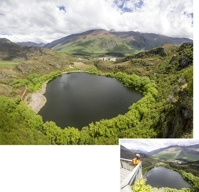 Top view of Diamond Lake