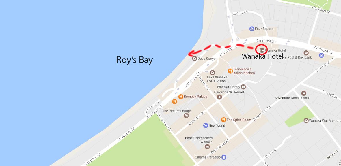 Wanaka Hotel and Roy's Bay