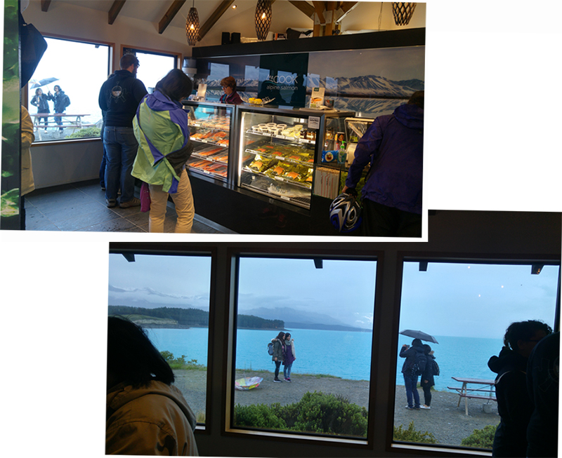 Inside the visitor center which was also a Salmon shop