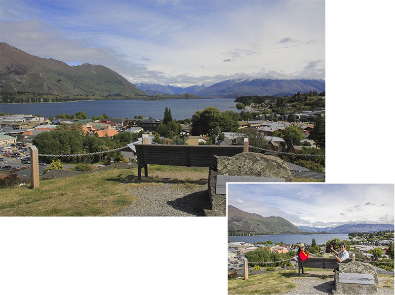 Scenic View of Wanaka town and its Lake