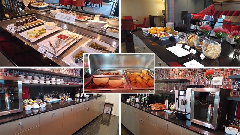 Food spread at Manaia Lounge