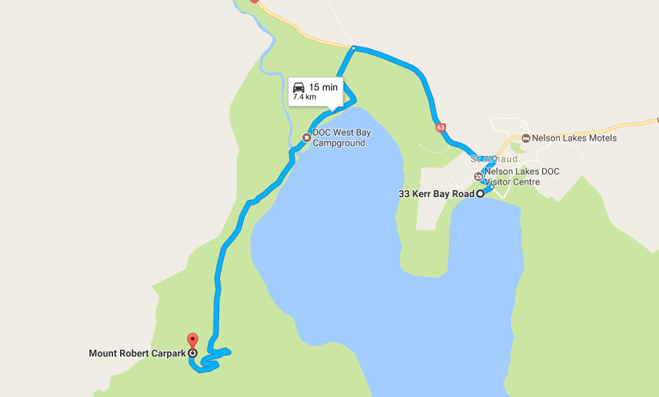 Route to a high view point of Lake Rotoiti
