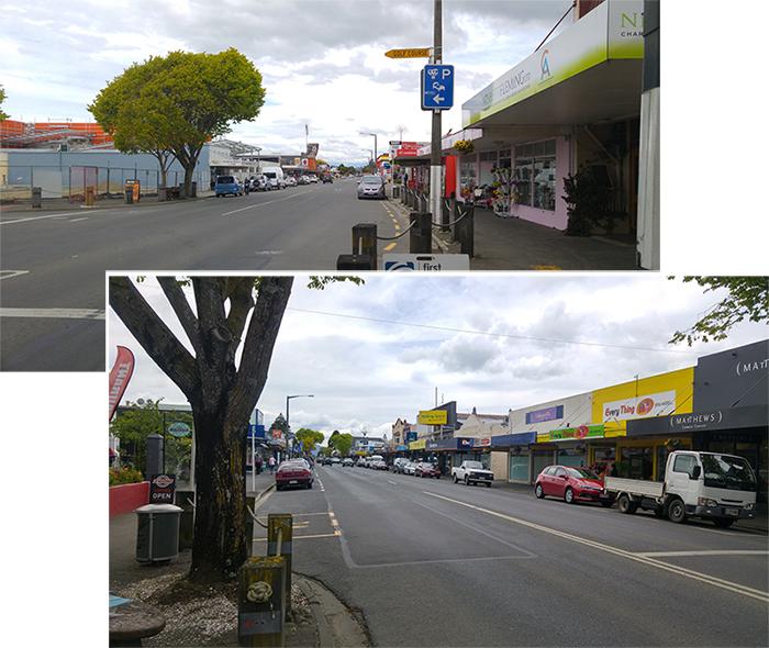 Street of Motueka Town