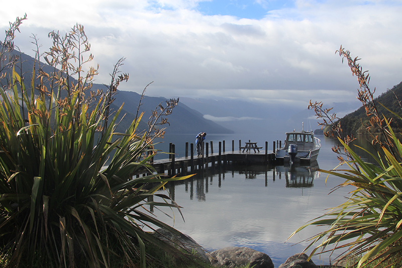 Lake Rotoroa at 8.00 am