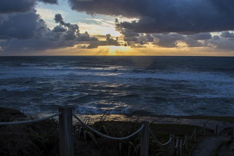Sunset at Truman Beach, South Island, New Zealand