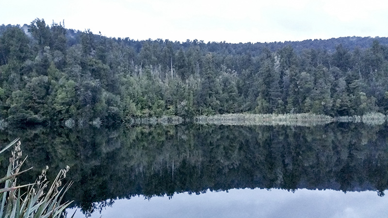 Lake Matheson at about 7.30pm
