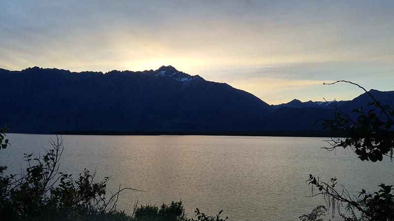 Sun set at Bennetts Bluff