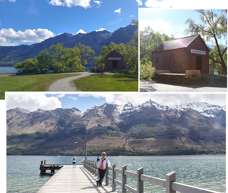 Glenorchy town and its jetty