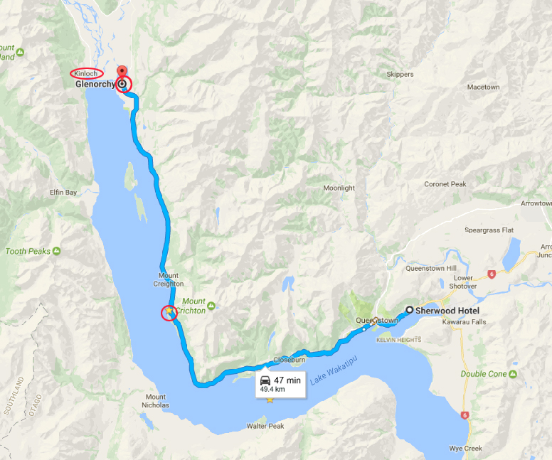 Route for the day