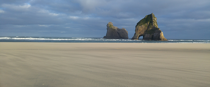 Archway Islands at Wharariki Beach, the northern most end of South Island