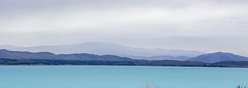 Lake Pukaki on a gloomy day