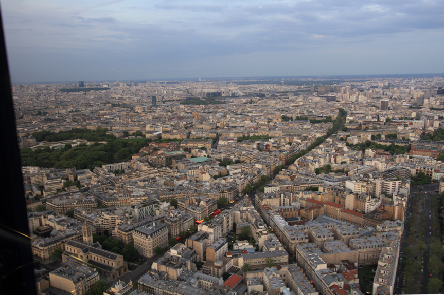 A view of Paris from 56th Floor