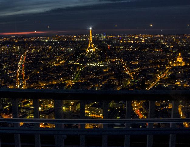 Paris in the evening from Tour Montparnasse