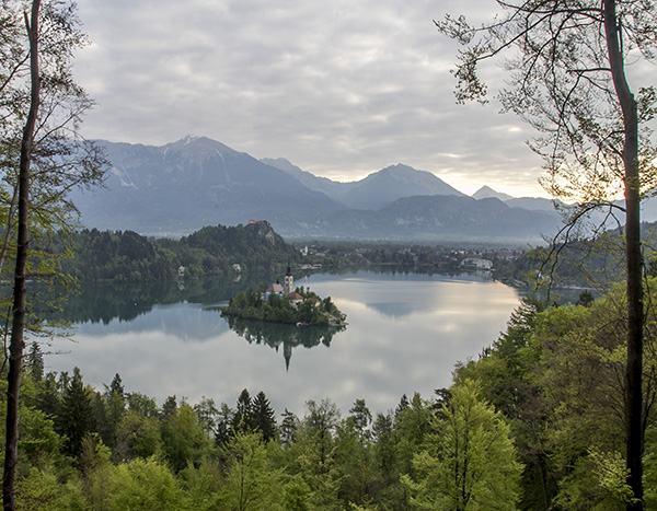 Bled Lake at 7.00 am in the morning