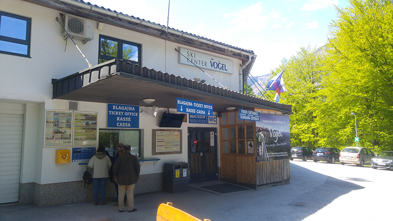 Lower cable car station